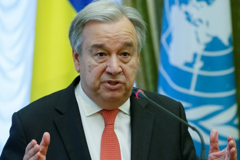 "The UN chief said that ""the solution to this crisis must be political"" [Valentyn Ogirenko/Reuters]"