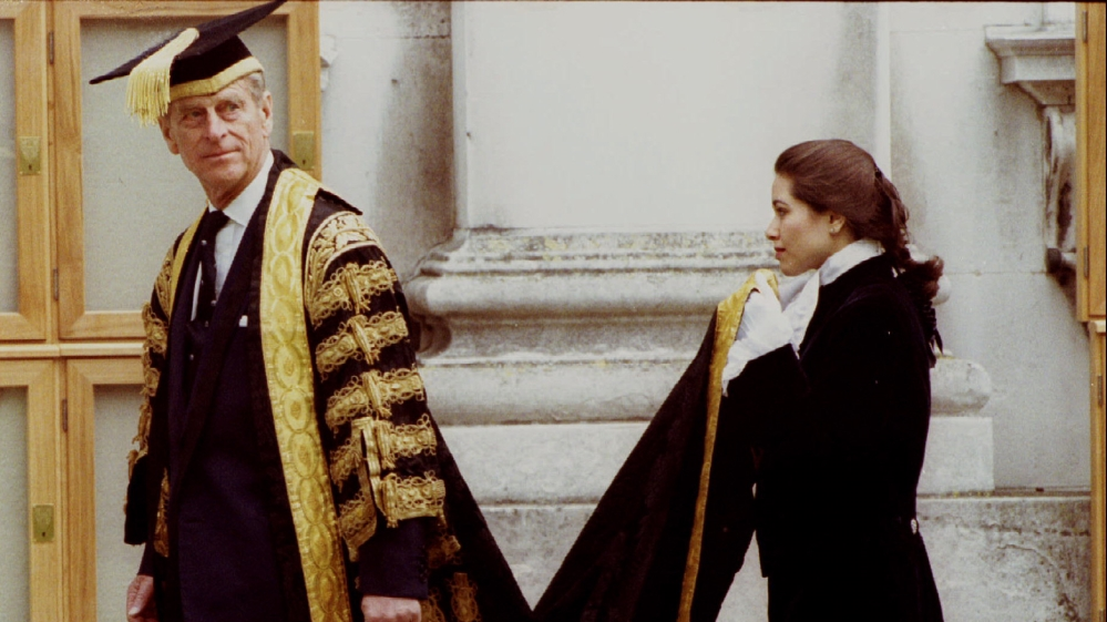Prince Philip the Duke of Edinburgh arrives at Cambridge University for an honorary doctorates ceremony in 1994 [Reuters]