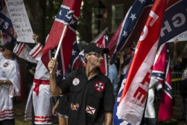 In July, the Ku Klux Klan rallied in Charlottesville, Virginia [Chet Strange/Getty Images/AFP]