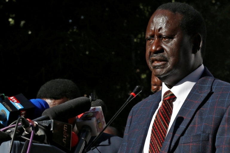 The camp of opposition leader Raila Odinga is calling for the replacement of the head of the electoral commission [Reuters]