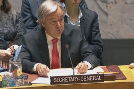 The UN secretary-general has also called for 'long lasting' solution to the crisis [Al Jazeera]