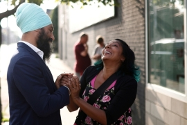 Singh, who hopes to lead Canada's 'conscience of parliament' party, is predicted to perform well [File: Mark Blinch/Reuters]