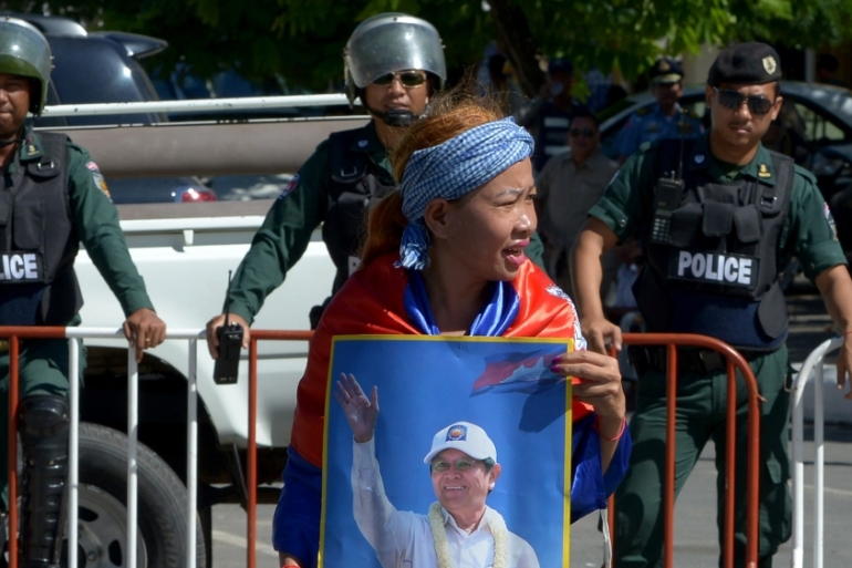 Opposition leader Kem Sokha was arrested on September 3 over coup allegations [Tang Chhin Sothy/AFP/Getty Images]