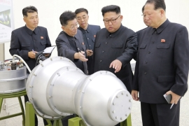 News of North Korea's latest nuclear test came hours after state TV showed pictures of a new hydrogen bomb [Reuters]