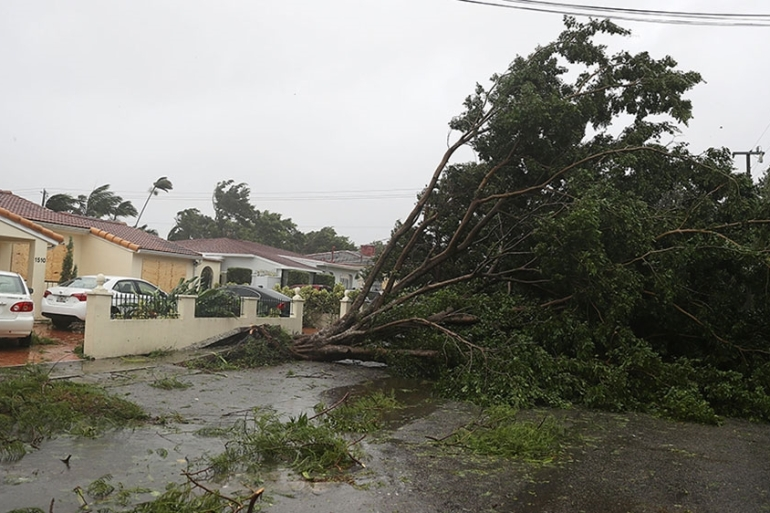 Hurricane Irma made landfall in the Florida Keys on Sunday morning as a Category 4 storm [AFP]