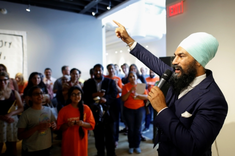 Singh won praise for his response to a woman shouting racist comments [Mark Blinch/Reuters]