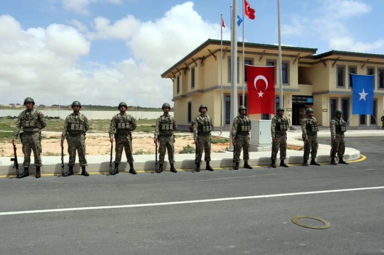 Turkey opened its biggest overseas military base in Mogadishu last month [Reuters]