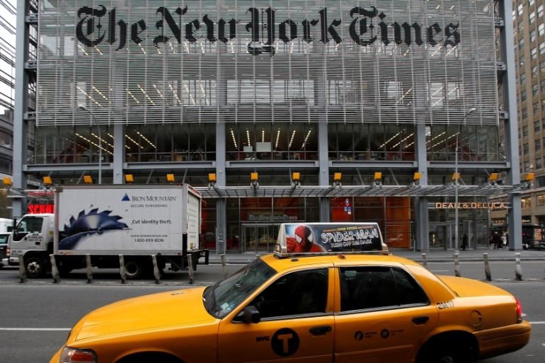 The New York Times today is integral to a massive Islamophobic machinery that marks Islam and Muslim as the diabolic enemy of all manners and claims to a civilized life, writes Dabashi [Reuters]