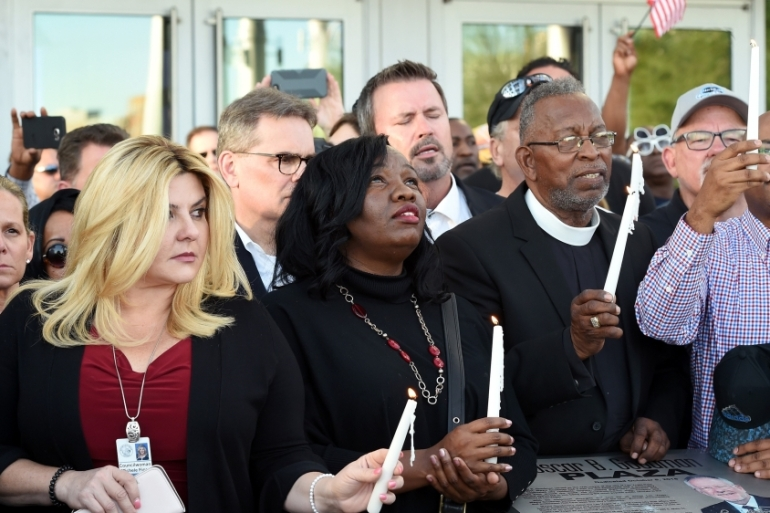 Americans are in mourning after one of the deadliest shootings in recent US history [Ethan Miller/AFP]