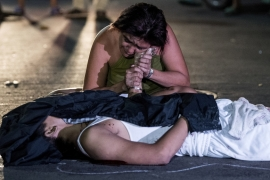 An alleged drug user killed by assailants, Manila [Noel Celis/AFP/Getty Images]