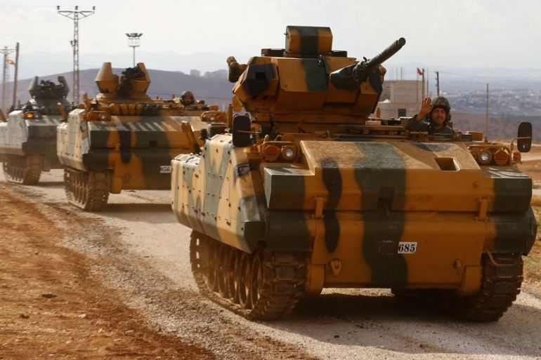 Turkish forces are entering Syria as part of a deal with Iran and Russia [Osman Orsal/Reuters]