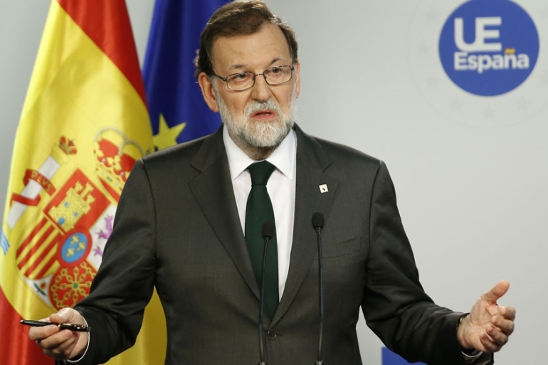 Prime Minister Mariano Rajoy was set to outlined the scope and timing of Article 155 [Julien Warnand/EPA]