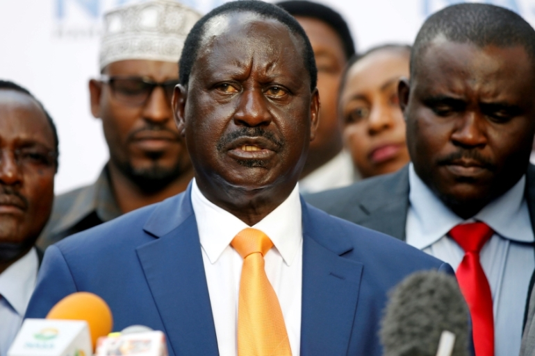 Kenyan opposition leader Raila Odinga announced that he would not stand in a court-ordered rerun of August's presidential election  scheduled for October 26 [Reuters/Baz Ratner]