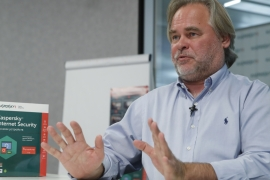 Eugene Kaspersky, Chief Executive of Russia's Kaspersky Lab, founded the antivirus company in Moscow in 1997 [Reuters/Maxim Shemetov]