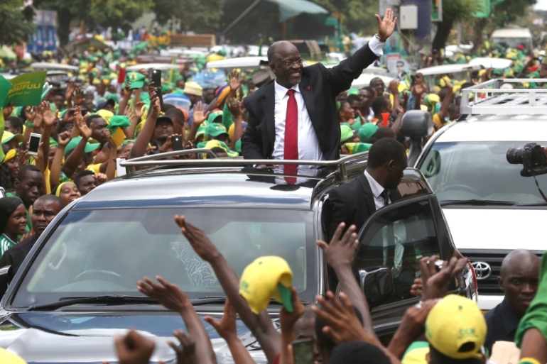 President John Magufuli was elected in 2015 for his first term and has not indicated whether he will seek re-election in 2020 [Emmanuel Herman/Reuters]