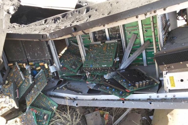 Authorities say air strikes destroyed a radio navigation system critical to receiving already limited aid deliveries [Courtesy: Yemen's Civil Aviation and Meteorology Authority]