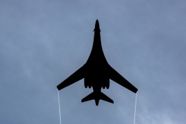 Two US Air Force B1-B Lancer bombers and fighter jets conducted an exercise over South Korea on Thursday [File: Christopher Quail/US Air Force via AP]