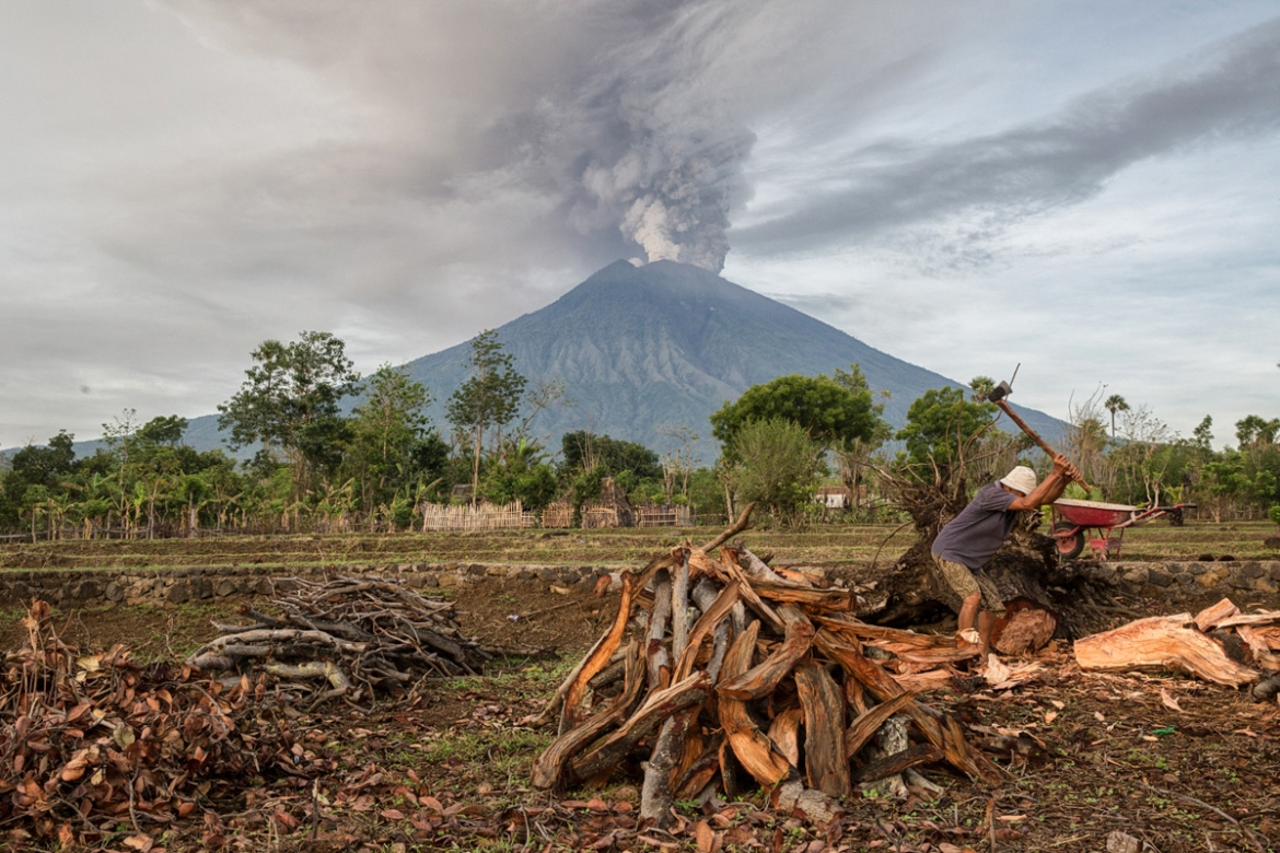 Agung rises majestically over eastern Bali to a height of just over 3,000 metres. Northeastern Bali is relatively undeveloped compared to the more heavily populated southern tourist hub of Kuta-Seminyak-Nusa Dua. [Putu Sayoga/Al Jazeera]