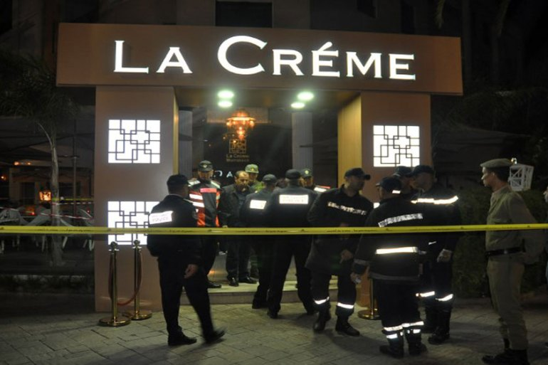 Two assailants wearing balaclavas shot the victim in the head at La Creme cafe [AFP]