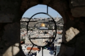 A general view shows the Dome of the Rock and Jerusalem's Old City from David Tower [Ronen Zvulun/Reuters]