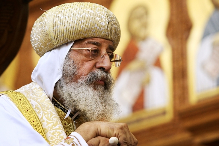 "Pope Tawadros II said Trump's decision ""did not take into account the feelings of millions of Arab people"" [File: Lisa Maree Williams/Getty Images]"