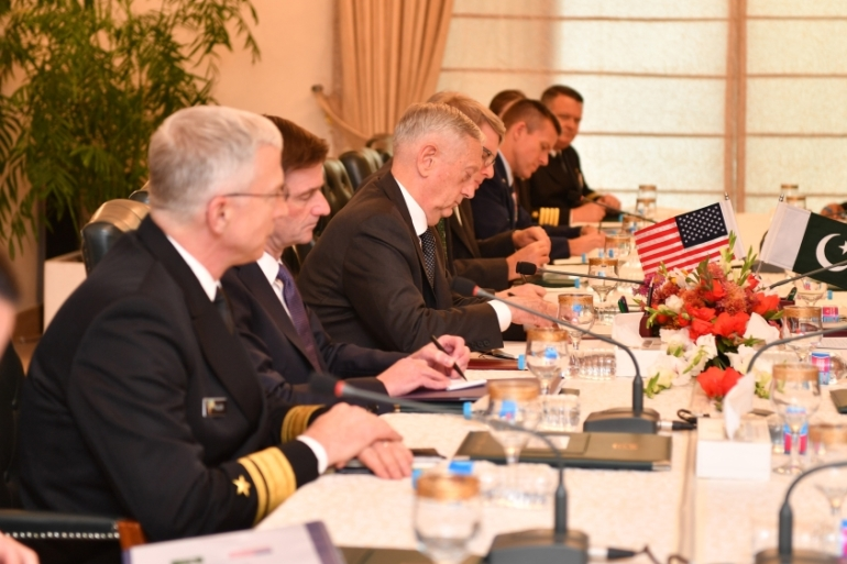 US defence secretary Mattis is the latest in a series of senior officials to visit Islamabad [Handout/US State Department]