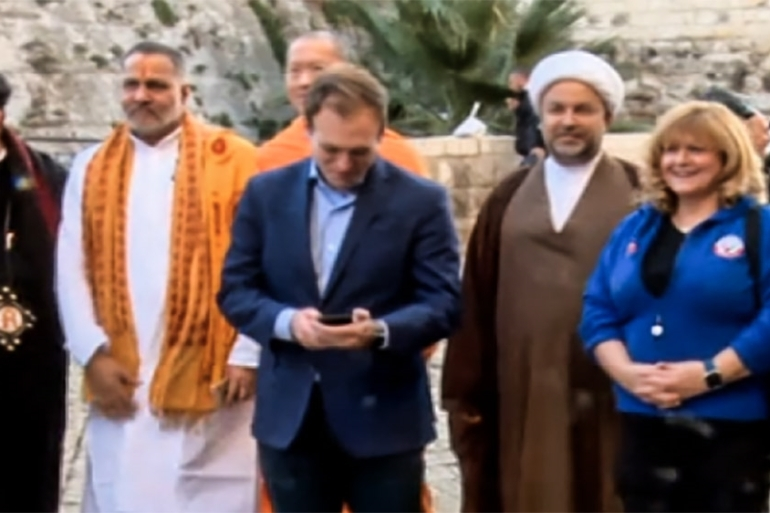 Members of ''This is Bahrain'' group will stay in Israel for four days [Screen Grab: Hadashot TV]