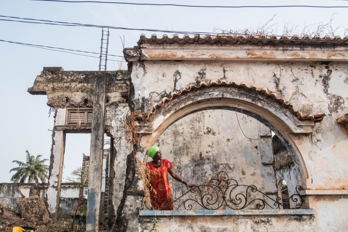 Djamila Gomes is an architect from Guinea Bissau. She is currently working with a firm to restore the Grand Hotel in Old Bissau. [Ricci Shryock/ Al Jazeera]