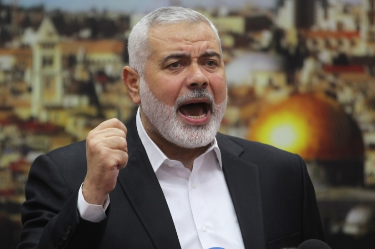 Haniya says the US offered Abu Dis to the PA as the capital of a future Palestinian state [Said Khatib/AFP]