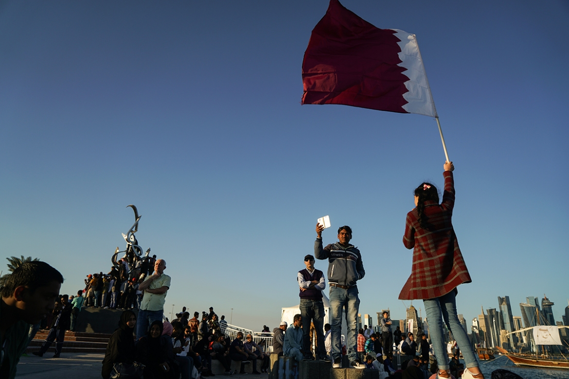 This year's festivities take place as Qatar continues to face a blockade, now in its seventh month, imposed by some of its Gulf neighbours. [Sorin Furcoi/Al Jazeera]
