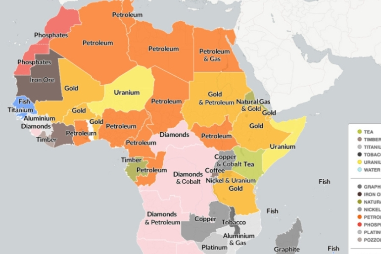 Natural Resources Of Africa Map Mapping Africa's natural resources | Infographic News | Al Jazeera