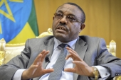 Ethiopia's PM Hailemariam Desalegn has announced plans to drop charges against political prisoners and close a notorious prison camp [Michael Tewelde/AP]