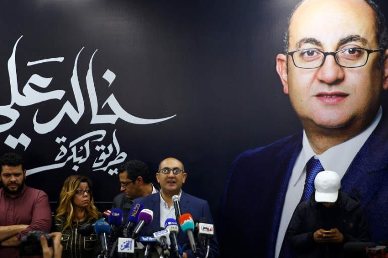 Ali is one of several presidential hopefuls to end their campaigns in recent weeks [Amr Abdallah Dalsh/Reuters]