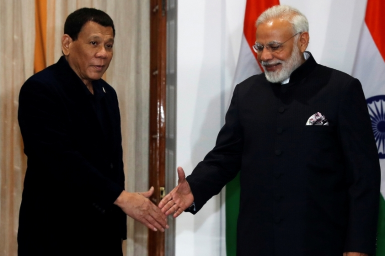 Duterte was in India to attend a regional summit between India and ASEAN leaders [Reuters]