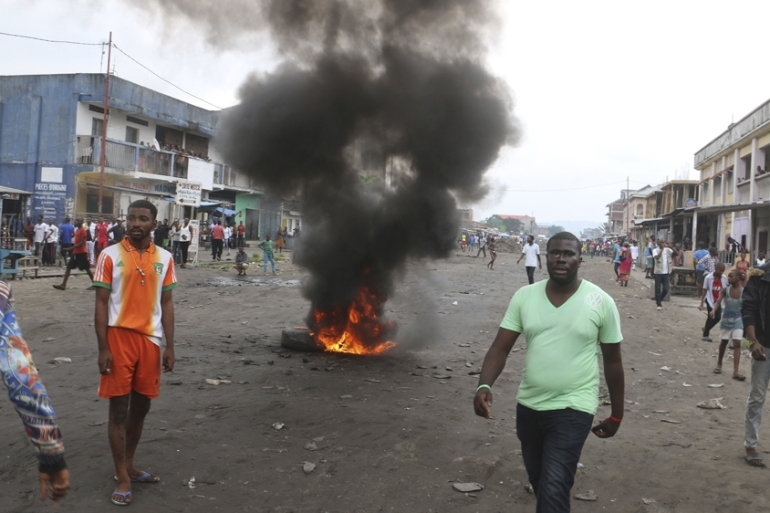 DRC protests are often met with force, and there are fears of violence during the December 23 vote [John Bompengo/Associated Press]