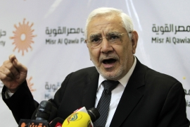 Aboul Fotouh ran as an independent candidate in the 2012 presidential elections [File: Mohamed Abd El Ghany/Reuters]