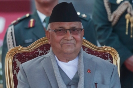 Prime Minister Khadga Prasad Oli decided to recommend the dissolution of Parliament at a Cabinet meeting Sunday [File: Niranjan Shrestha/AP Photo]