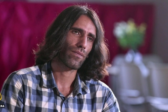 Kurdish-Iranian journalist Behrouz Boochani had been living on Manus Island for almost six years [Screengrab/Al Jazeera]
