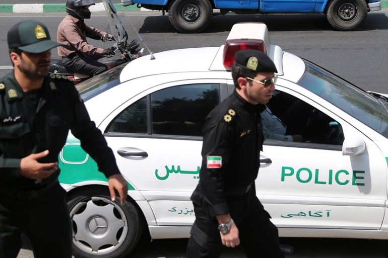 Three police officers were killed when a minibus ran them over in Tehran on Monday night [File: AP]