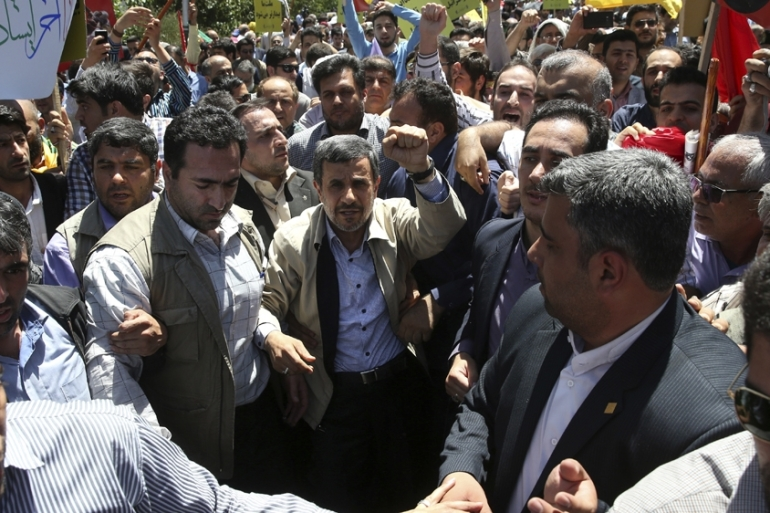 The Guard Council disqualified Ahmadinejad to run for president in 2017 [File: AP]