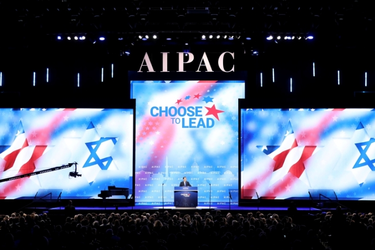 AIPAC speakers said Israel and Gulf countries share a common enemy in Iran [Handout via Reuters]
