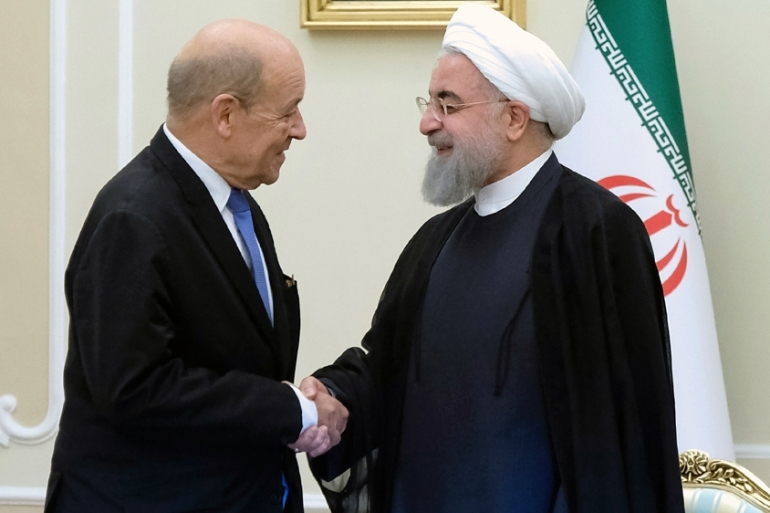 France's Foreign Minister Le Drian said Iran 'risks new sanctions' if it does not address concerns on its missile programme [AFP]