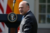 A federal judge ruled former Goldman Sachs executives Gary Cohn, above, and Lloyd Blankfein must testify in a major gender discrimination case. Cohn also served as President Trump's chief economic adviser [File: Joshua Roberts/Reuters]