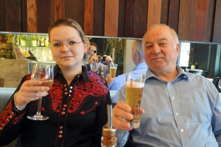 Sergei Skripal, 66, and his daughter Yulia, 33, were discovered unconscious on a bench outside a shopping centre in Salisbury [Rex Features]