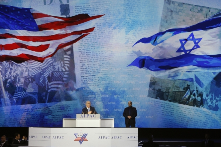 Israeli Prime Minister Benjamin Netanyahu, who addressed AIPAC in person in 2015, will give a speech to the attendees of the 2018 AIPAC conference [Jonathan Ernst/Reuters]