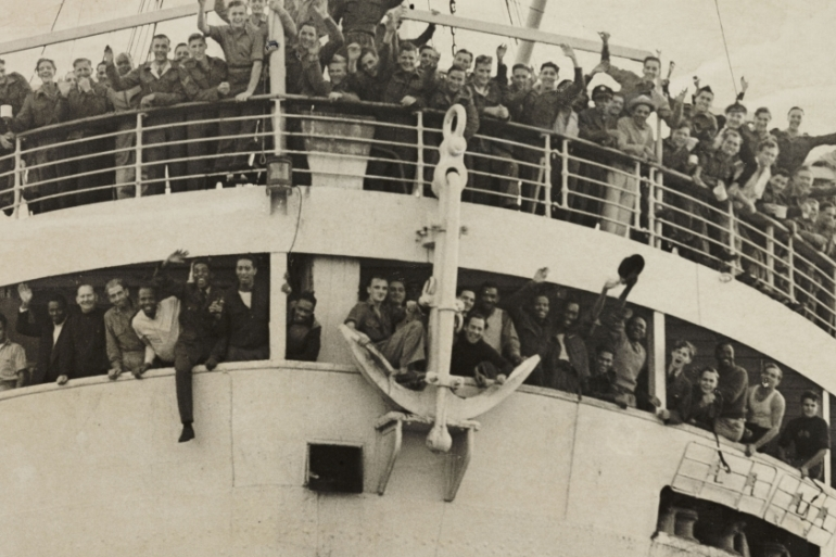 The Empire Windrush arriving in Britain from Jamaica on 21 June, 1948 [Daily Herald Archive/Getty Images]