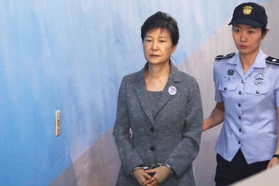 South Korean's former leader Park Geun-hye arrives at a court in Seoul, South Korea, August 25, 2017 [File: Kim Hong-Ji/ Reuters]