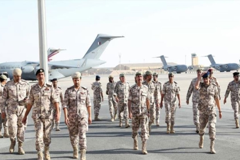 A number of officers from the Qatari Armed Forces participated in the exercise [Courtesy of: Qatar Defence Ministry]