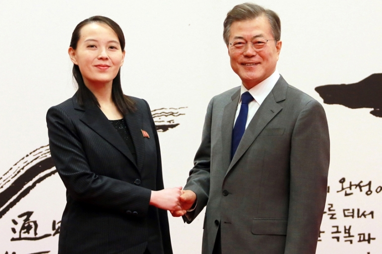 President Moon met Kim Yo-yong, the sister of North Korea's leader, in Seoul earlier this year [Reuters]