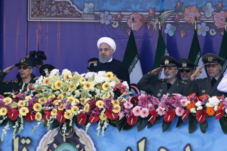Rouhani said peace and stability in the Middle East 'are not feasible in the absence of power' [AFP]